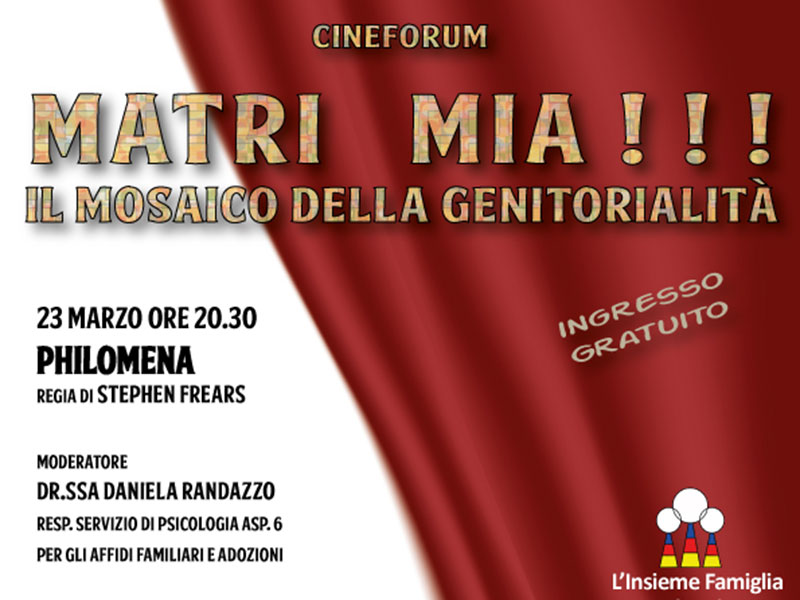 Cineforum: quarto film in rassegna, Philomena - regia di Stephen Frears
